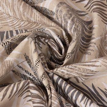 SCHÖNER LEBEN. Tischläufer Palmenblätter natur braun grau 40x160cm – Bild 6