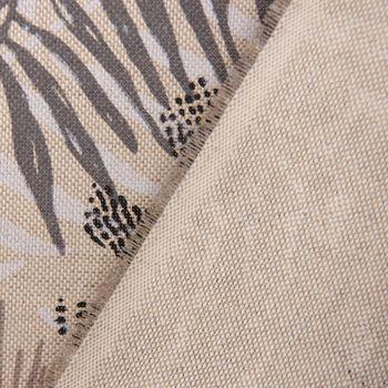 SCHÖNER LEBEN. Tischläufer Palmenblätter natur braun grau 40x160cm – Bild 5