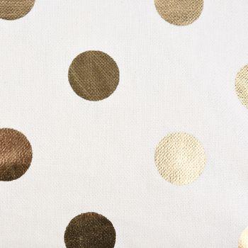 SCHÖNER LEBEN. Kissenhülle Punkte weiß goldfarbig metallic 40x40cm – Bild 4