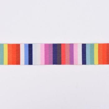 Gurtband Deko Streifen bunt Polyester Breite: 4cm – Bild 1
