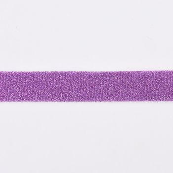 Schrägband Einfassband Lurex Glitzer lila Breite: 2cm – Bild 1