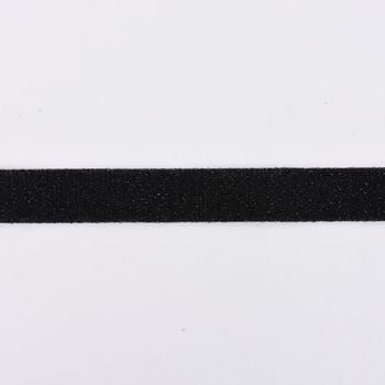 Schrägband Einfassband Lurex Glitzer schwarz Breite: 2cm – Bild 1