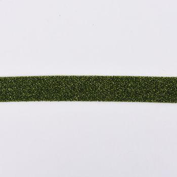 Schrägband Einfassband Lurex Glitzer grün schwarz Breite: 2cm – Bild 1
