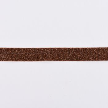 Schrägband Einfassband Lurex Glitzer kupfer Breite: 2cm – Bild 1