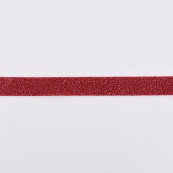 Schrägband Einfassband Lurex Glitzer pink Breite: 2cm – Bild 1
