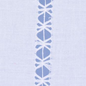 Panneaux mit Schlaufen und Häkelblume weiß 120x50cm – Bild 6