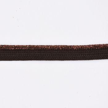 Paspelband Polyester braun Glitzer Lurex Breite: 1cm – Bild 2