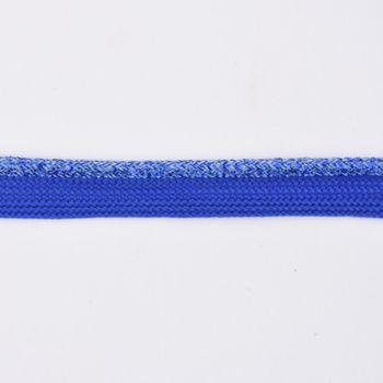 Paspelband Polyester royalblau Glitzer Lurex Breite: 1cm – Bild 2