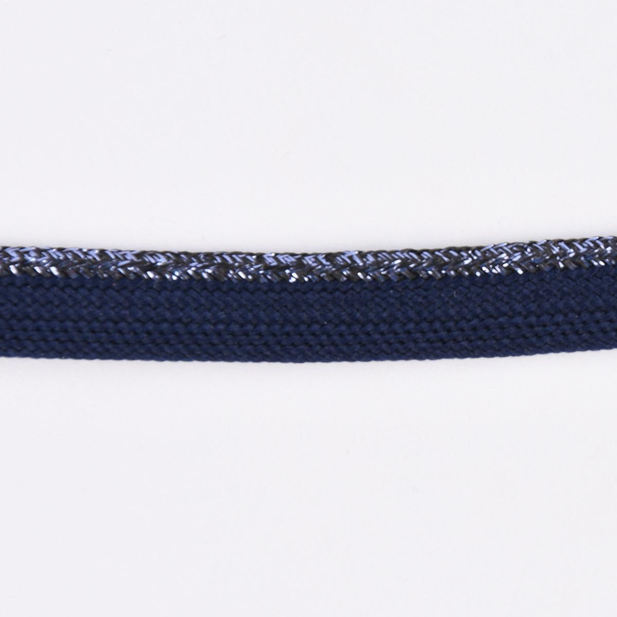 Paspelband Polyester dunkelblau Glitzer Lurex Breite: 1cm