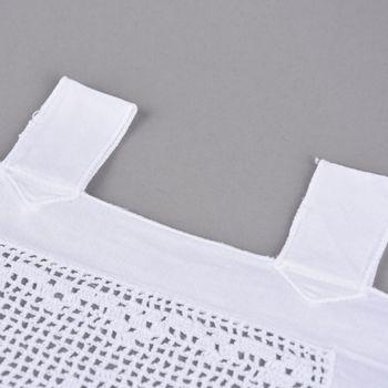 Panneaux Meterware Herz und Raute mit Schlaufen weiß 35cm Höhe – Bild 2