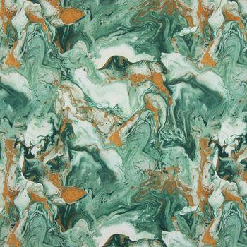 SCHÖNER LEBEN. Kissenhülle Digitaldruck Retro Batik grün gold – Bild 5