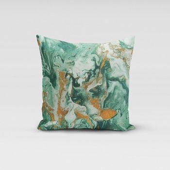 SCHÖNER LEBEN. Kissenhülle Digitaldruck Retro Batik grün gold – Bild 13