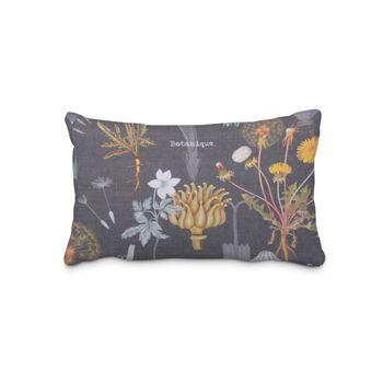 SCHÖNER LEBEN. Kissenhülle Blumen Löwenzahn Mohn dunkelgrau rot orange gelb – Bild 10