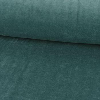 Bekleidungsstoff Nicky einfarbig dunkel mint 1,4m Breite – Bild 1