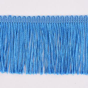 Fransenband Meterware aqua blau Breite: 5cm – Bild 2