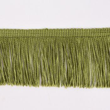 Fransenband Meterware oliv grün Breite: 5cm – Bild 2
