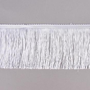 Fransenband Meterware weiß Breite: 10cm