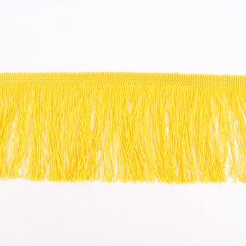 Fransenband Meterware gelb Breite: 10cm