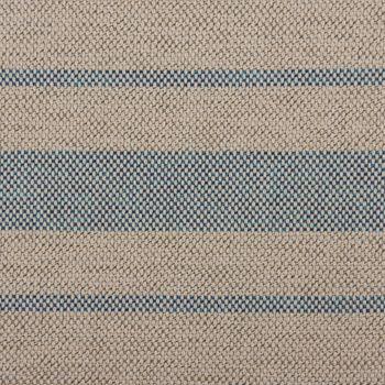 Outdoorstoff Markisenstoff Gartenmöbelstoff teflonbeschichtet Toldo natur mit blauen Streifen 160cm breit – Bild 2