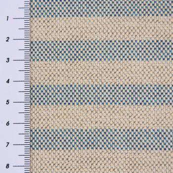 Outdoorstoff Markisenstoff Gartenmöbelstoff teflonbeschichtet Toldo natur blau gestreift 160cm breit – Bild 3