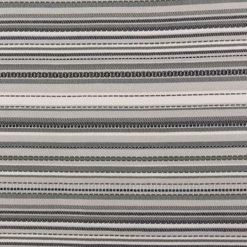 Outdoorstoff Markisenstoff Gartenmöbelstoff teflonbeschichtet Tropic weiß grau gestreift 160cm breit – Bild 1