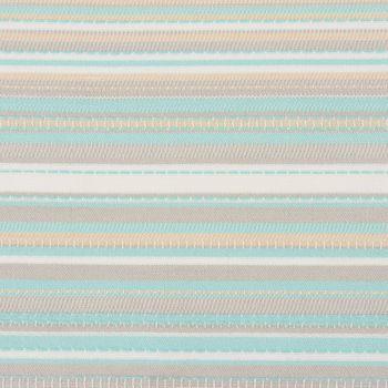 Outdoorstoff Markisenstoff Gartenmöbelstoff teflonbeschichtet Tropic mint türkis grau gestreift 160cm breit – Bild 2