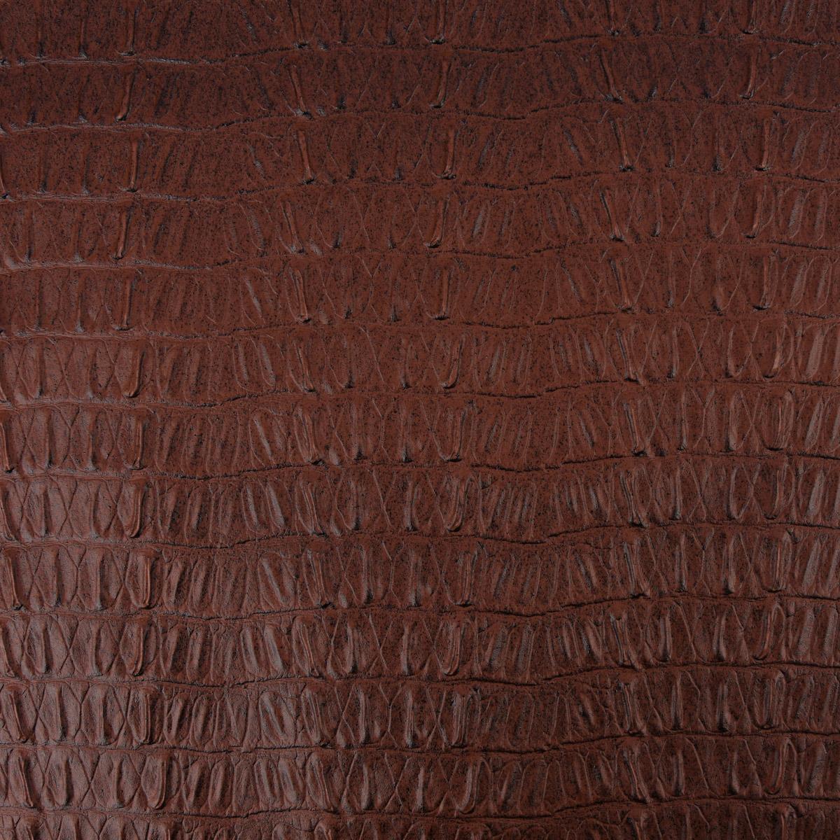 Kunstleder Lederimitat Krokodilhaut schokobraun 1,4m Breite