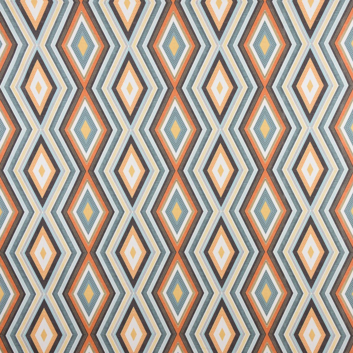 Clarke & Clarke STUDIO G Englischer Dekostoff Polsterstoff geometrisch Ethno Raute creme bunt 138cm Breite