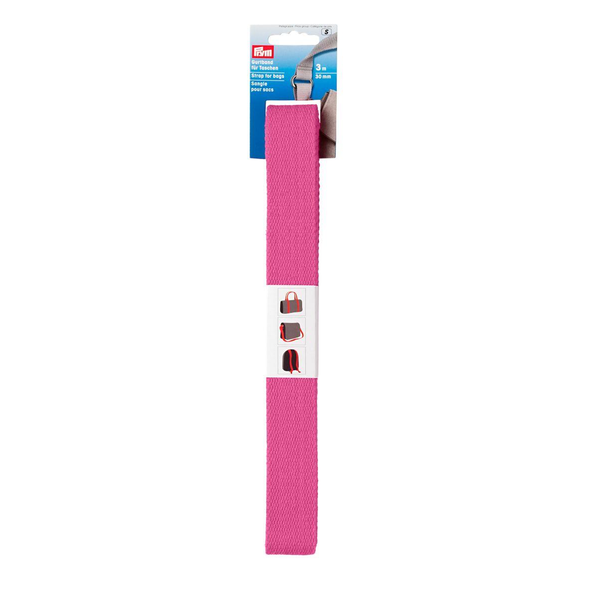Prym Gurtband für Taschen 30mm pink