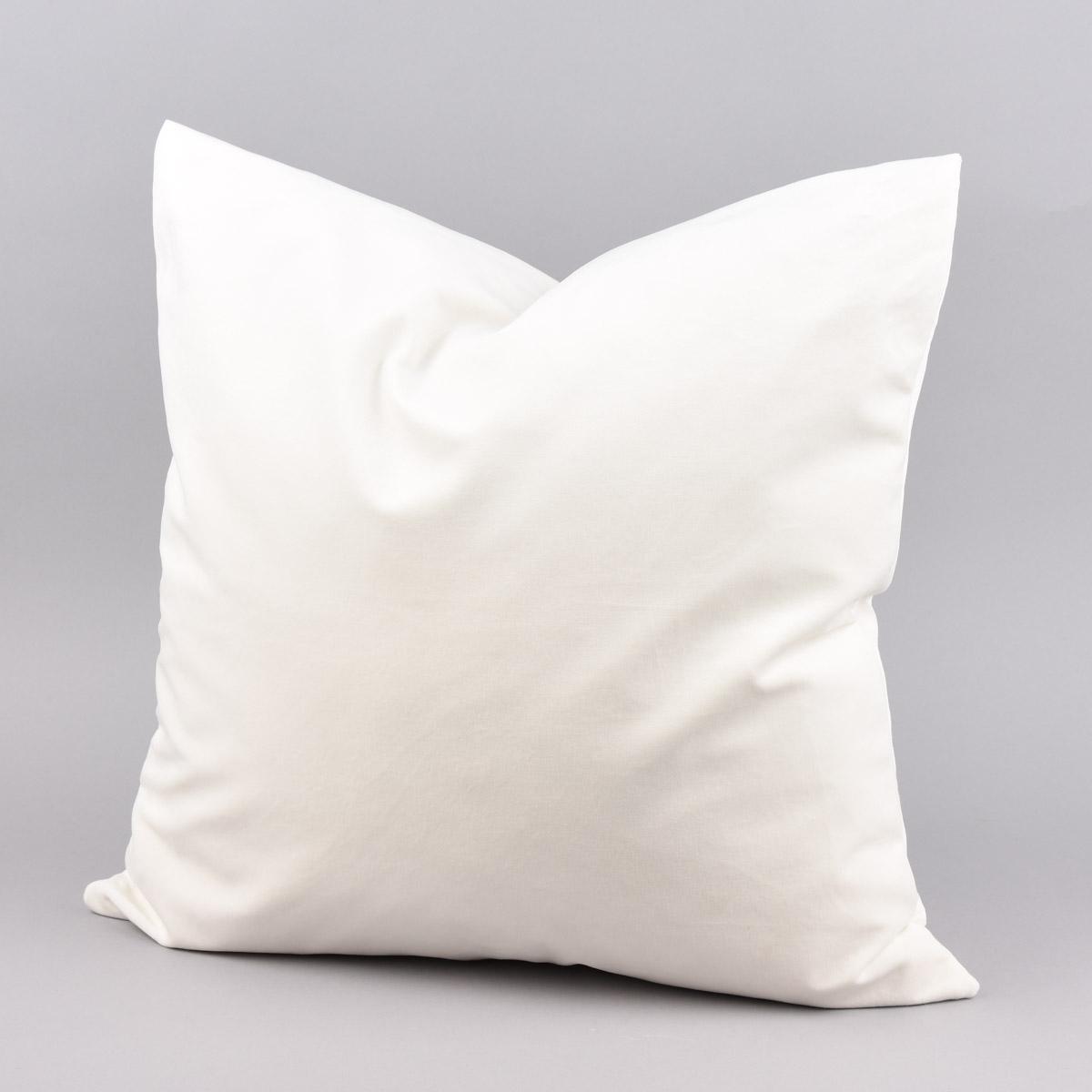 Kissenhülle Duval Samtoptik weiß 50x50cm