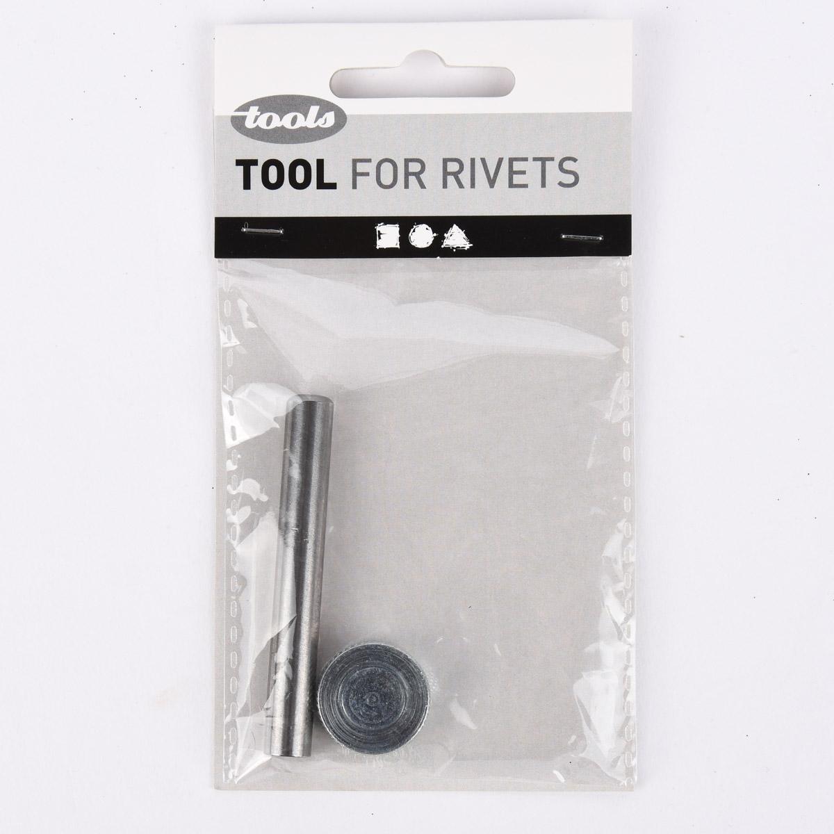 Creativ Company Nietwerkzeug Set bestehend aus Nietstempel und Kappe für zweiteilige Nieten