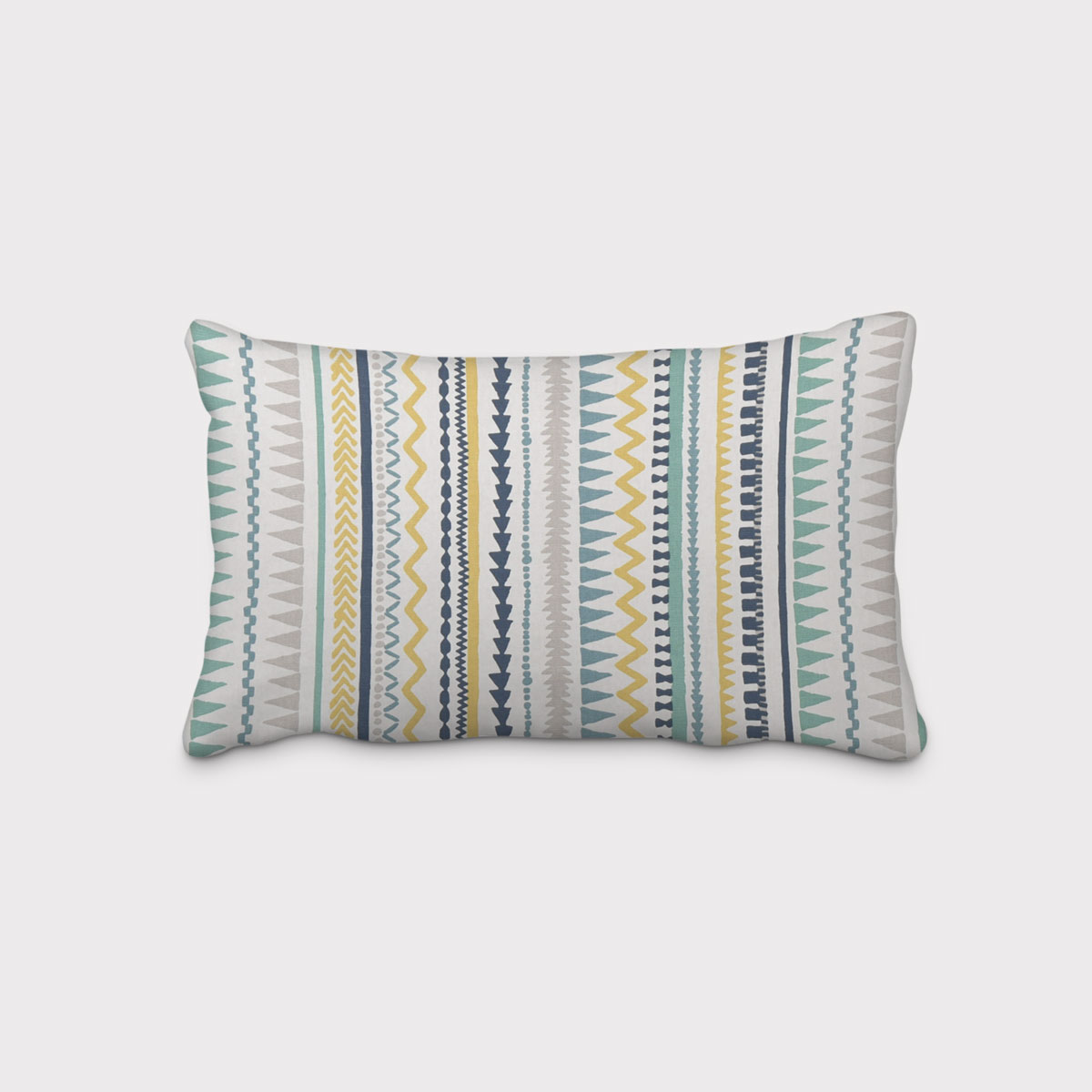 SCHÖNER LEBEN. Kissenhülle Streifen Ethno Inka weiß grau blau gelb verschiedene Größen