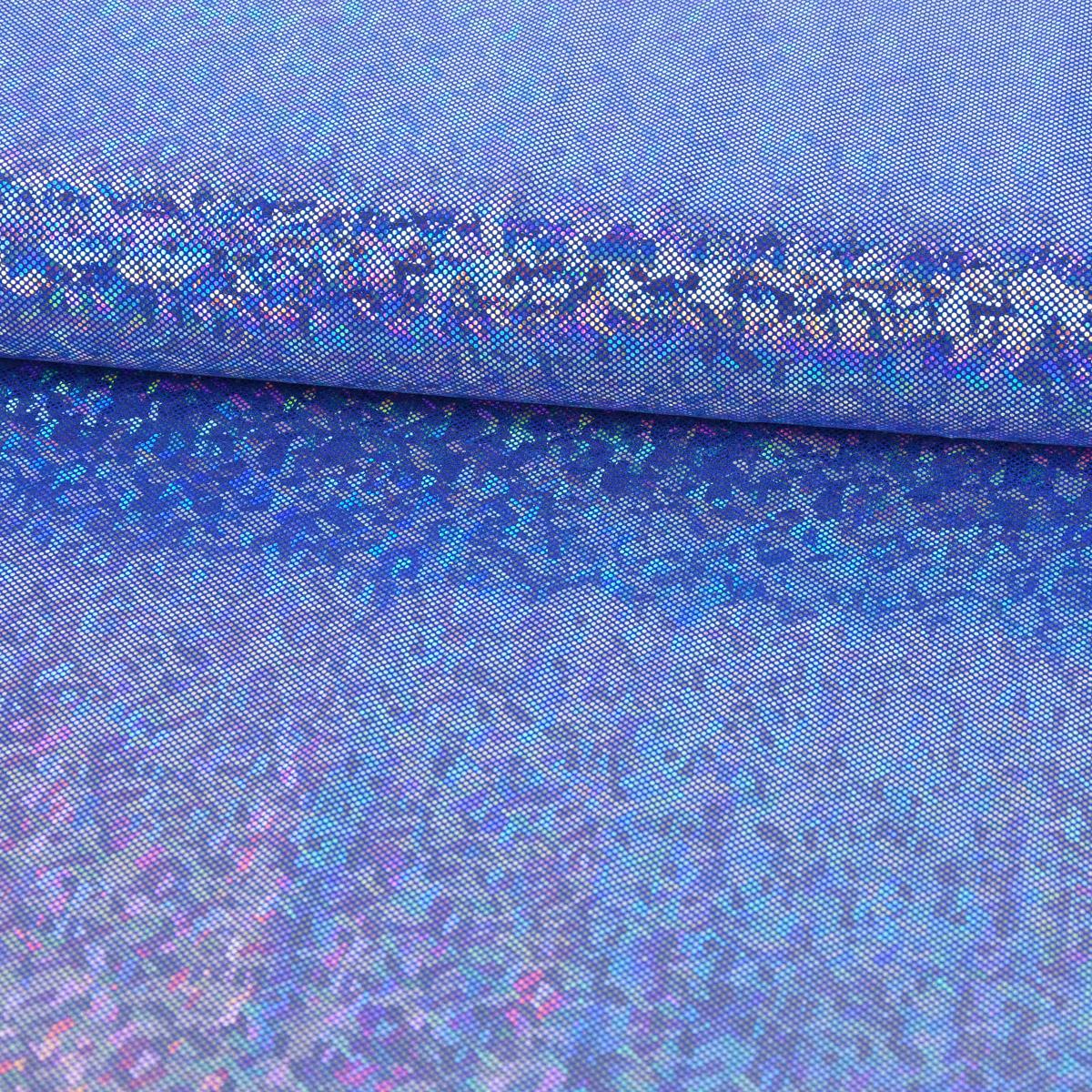 Jerseystoff Stretch Jersey Glitzer holografisch einfarbig dunkelblau 1,5m Breite