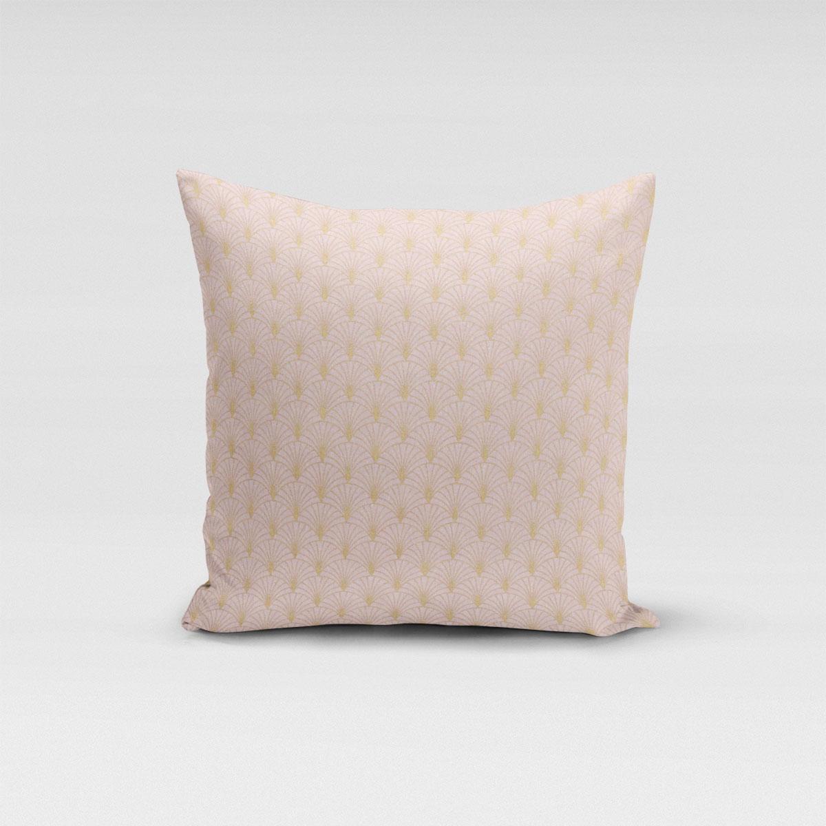 SCHÖNER LEBEN. Kissenhülle Glamour Schuppen Fächer rosa gold verschiedene Größen