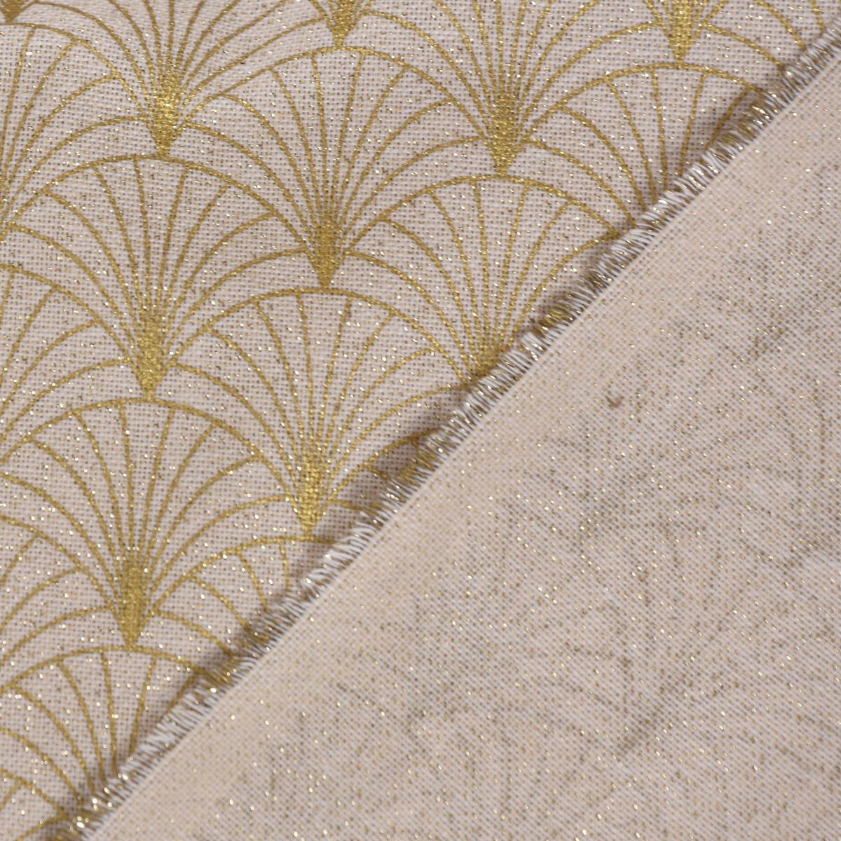 Zugluftstopper Leinenlook Lurex Glamour uni natur goldfarbig verschiedene Größen