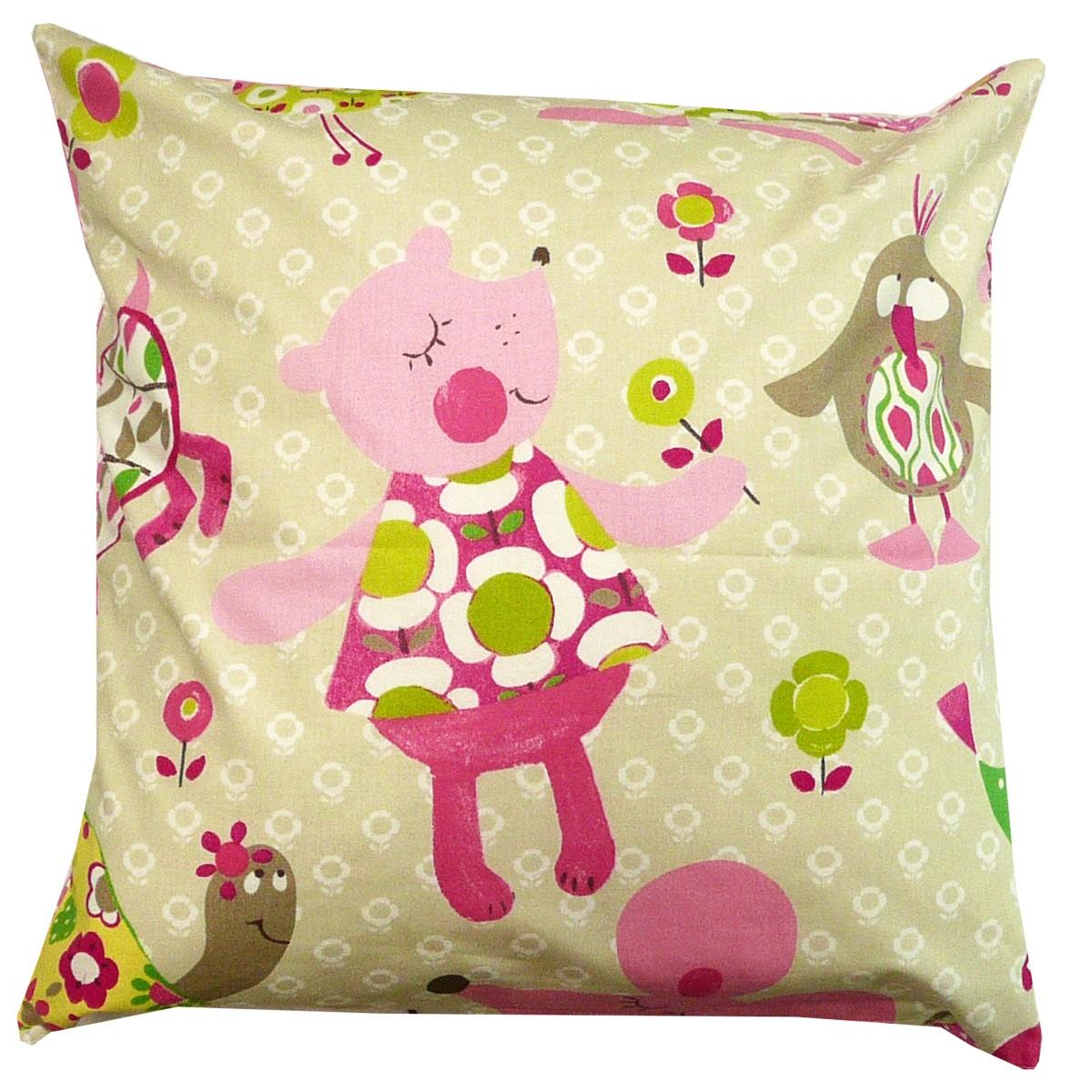 Kissenhülle Amelie&Friends sand Dinky Dots 50x50 pink