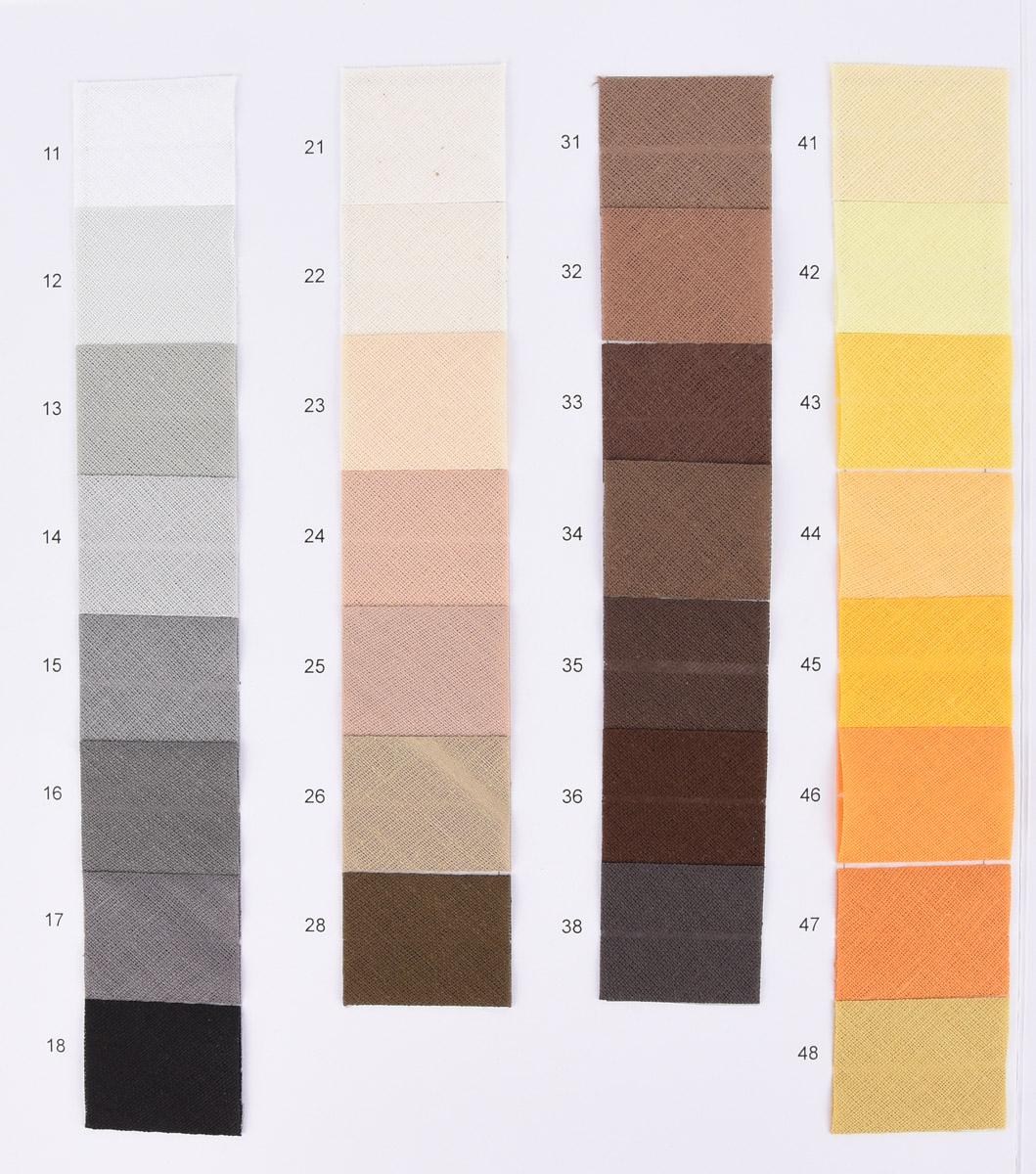 5 Meter Prym Baumwolle gefalzt freie Farbwahl Schrägband 20mm