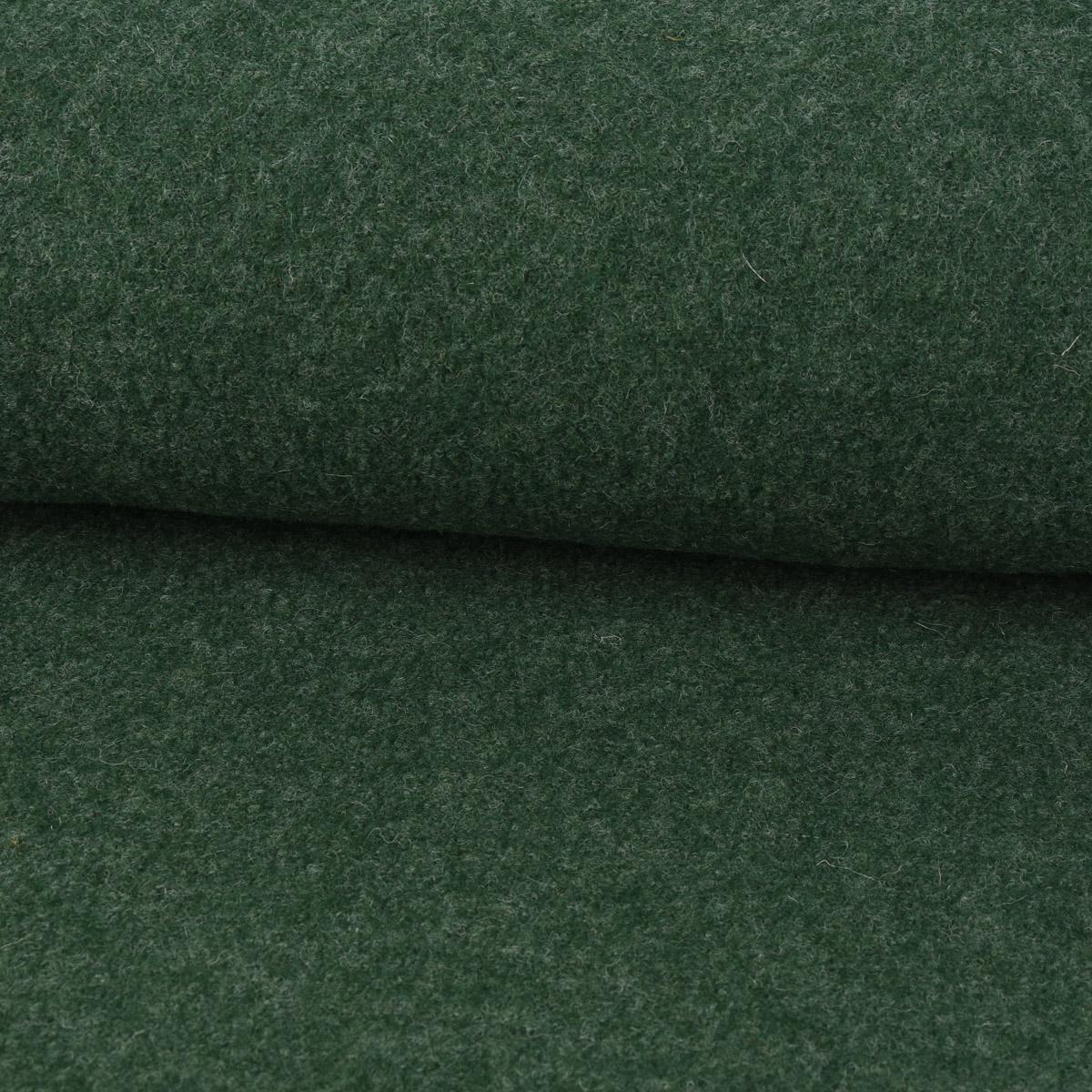 Mantelstoff Bekleidungsstoff Walkloden Wolle tannengrün meliert 1,46m Breite