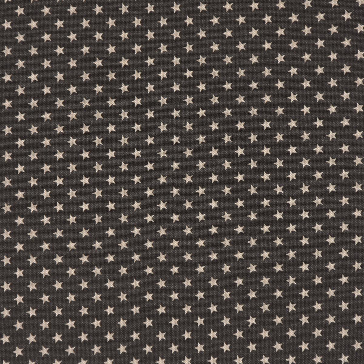 Dekostoff Baumwollstoff Weihnachten Sterne dunkelgrau natur 2,8m Breite