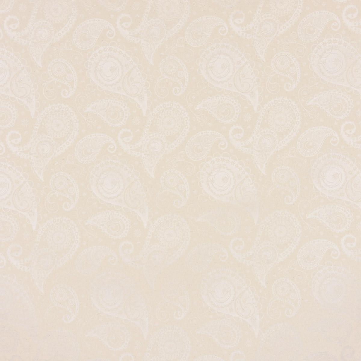 Dekostoff Jacquard Wendestoff Tischwäschestoff extrabreit Paisley natur weiß 2,8m Breite