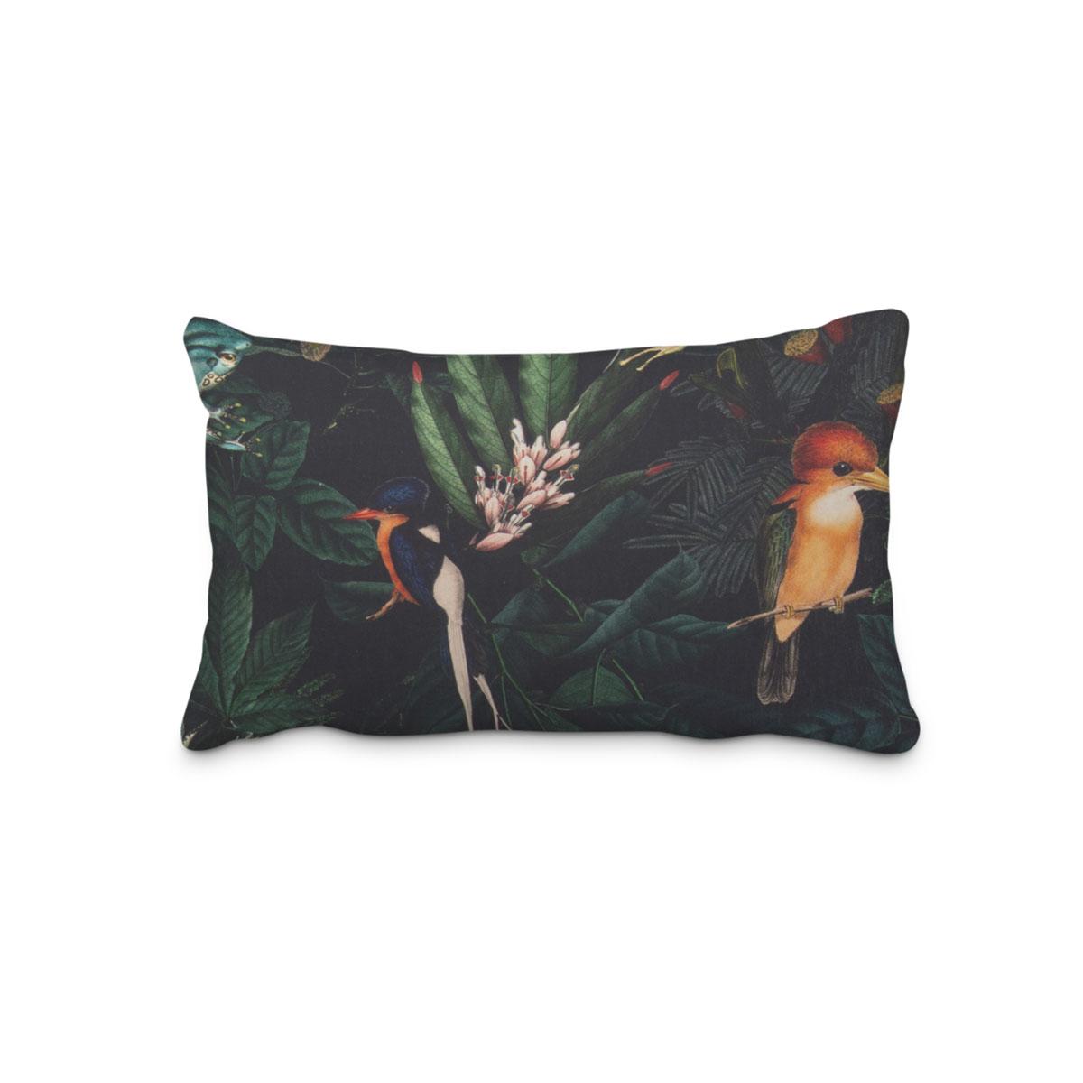 Kissenhülle Kissenbezug 40x40 cm Flamingo Zebra Blätter Dekokissen Handarbeit