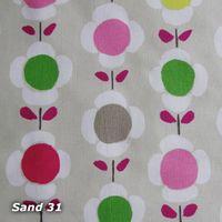 Kissenhülle Daisy Flowers 40x40cm sand 001