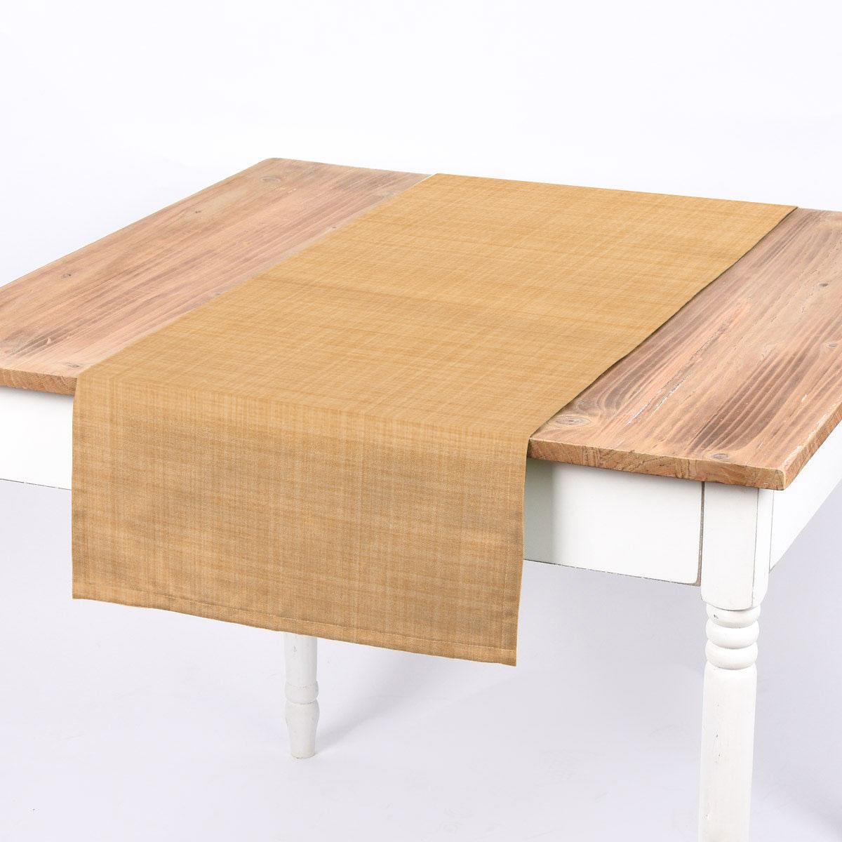 SCHÖNER LEBEN. Tischläufer uni gelb meliert 40x160cm
