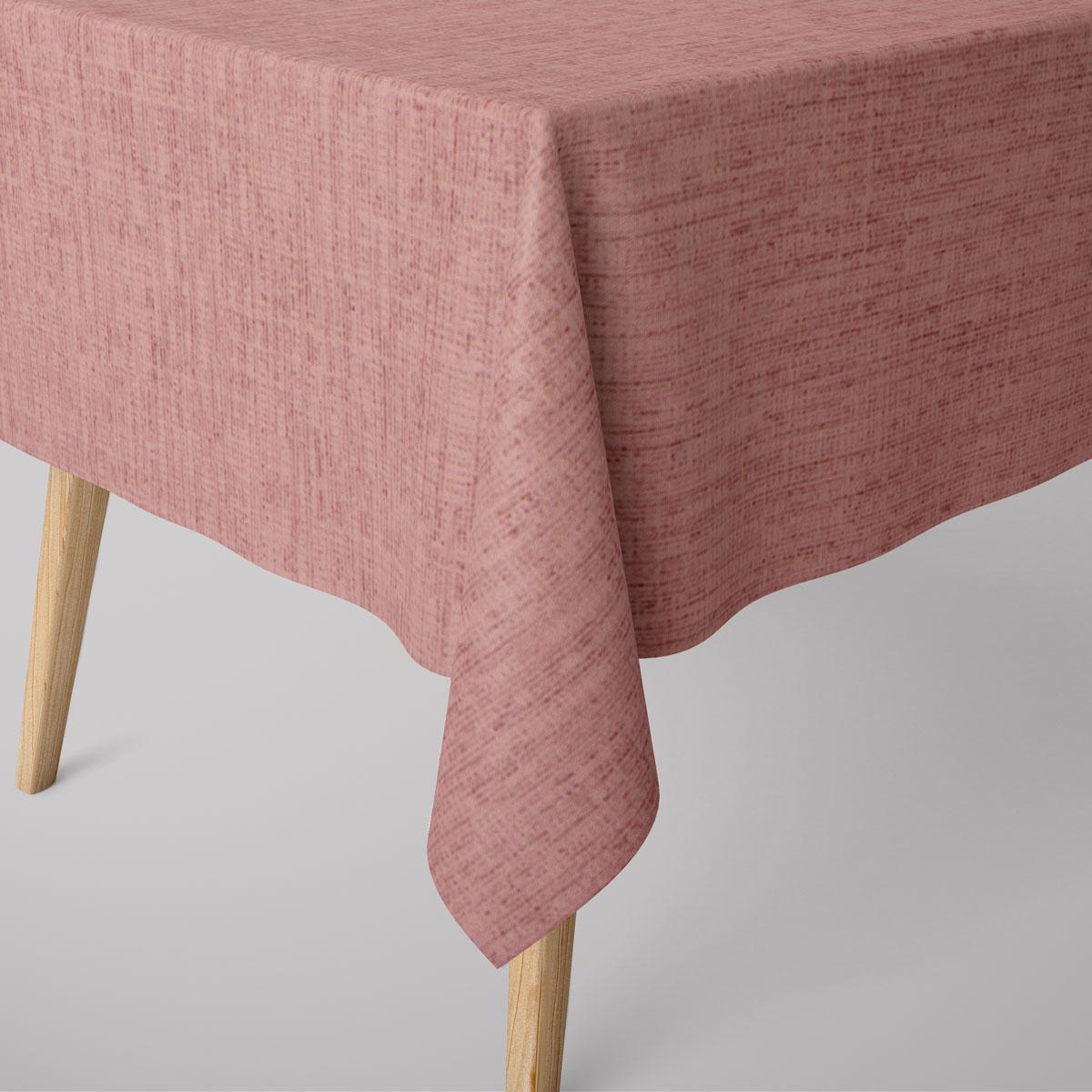 SCHÖNER LEBEN. Tischdecke VARANO grobe Struktur rosa meliert verschiedene Größen