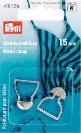 Bikiniverschlüsse ST silberfarbig 15 mm