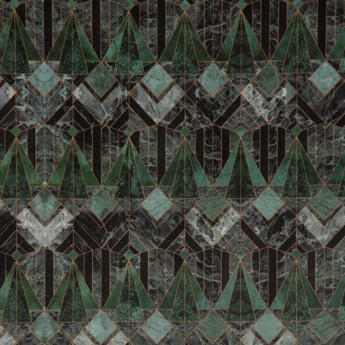 Samtstoff Dekostoff Velvet Deluxe Samt Art Deko Marble Diamond Marmor petrol grün 1,4m Breite