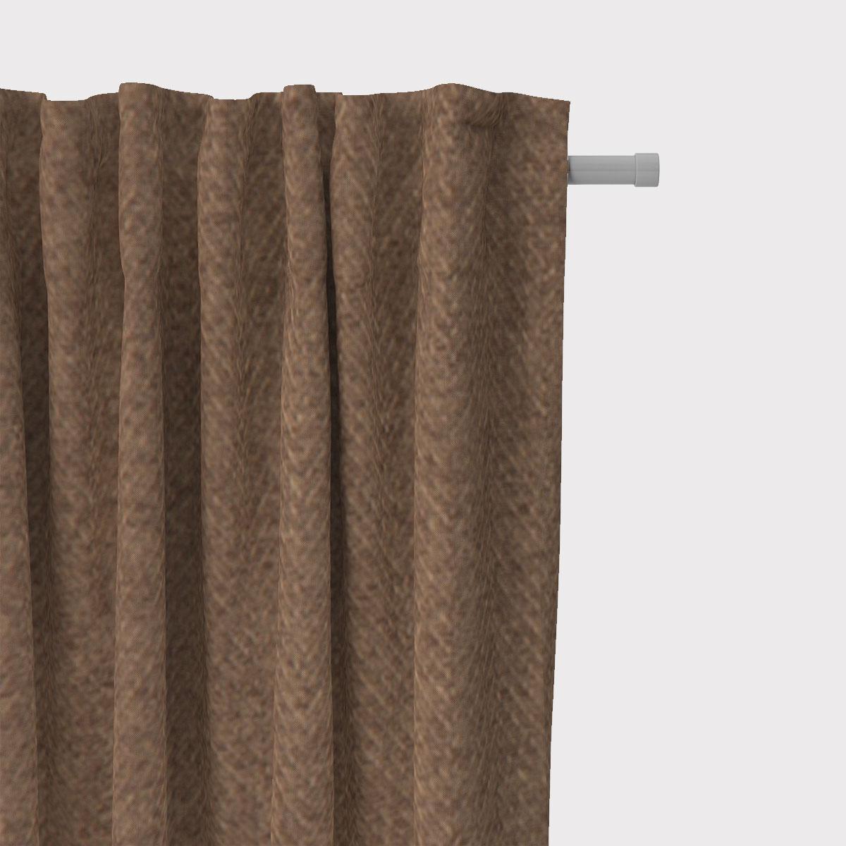 SCHÖNER LEBEN. Vorhang Herringbone Fischgrätmuster Streifen braun meliert 245cm oder Wunschlänge
