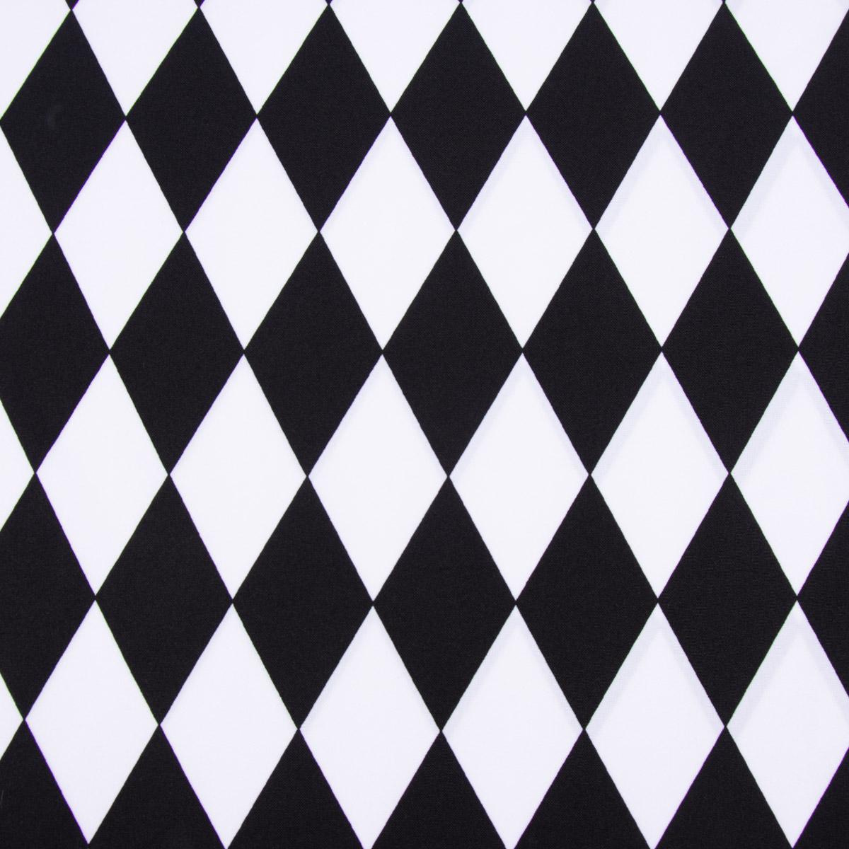 Polyester Punkte schwarz weiß 1,5m Breite