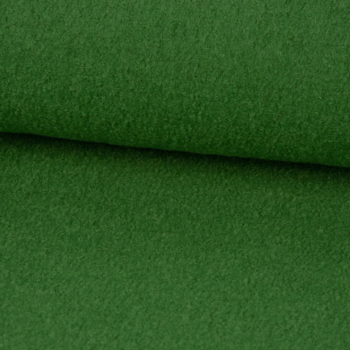 Mantelstoff Bekleidungsstoff Walkloden Wolle grün 1,46m Breite