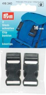 Prym 2 Steckschnallen Schnalle schwarz 16mm